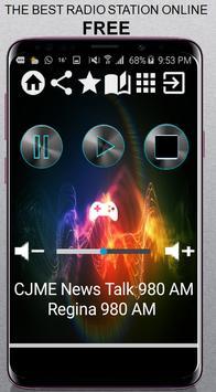CJME News Talk 980 AM Regina 980 AM CA App Radio F poster