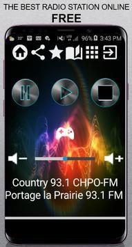 Country 93.1 CHPO-FM Portage la Prairie 93.1 FM CA poster