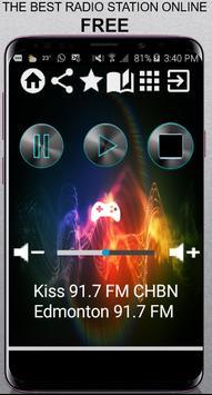 Kiss 91.7 FM CHBN Edmonton 91.7 FM CA App Radio Fr poster