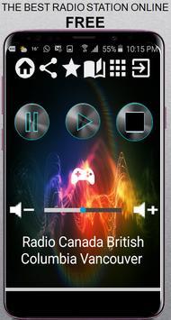 Radio Canada British Columbia Vancouver CA App Rad poster