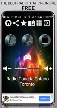 Radio Canada Ontario Toronto CA App Radio Free Lis poster