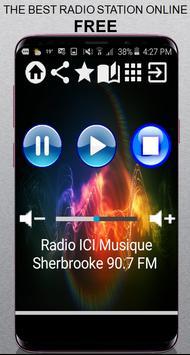 CA Radio ICI Musique Sherbrooke 90.7 FM App Radio poster