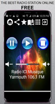 CA Radio ICI Musique Yarmouth 106.1 FM App Radio F poster