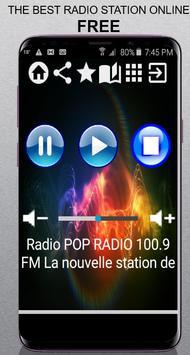 CA Radio POP RADIO 100.9 FM station Quebec 100.9 F poster