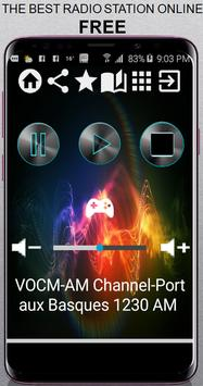 VOCM-AM Channel-Port aux Basques 1230 AM CA App Ra poster