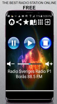 SV Radio Sveriges Radio P1 Borås 88.5 FM App Radio poster