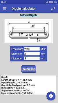Dipole calculator screenshot 1