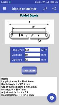 Dipole calculator screenshot 2
