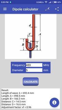 Dipole calculator screenshot 4