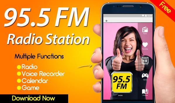 95.5 Radio Station FM poster