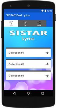 SISTAR Best Lyrics poster