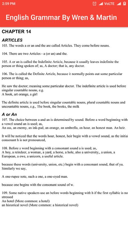 wren and martin english grammar pdf
