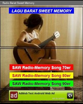 Radio Barat Sweet Memory poster