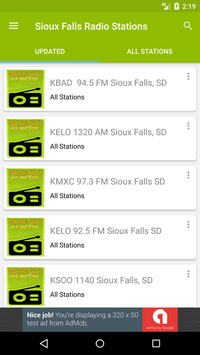 Sioux Falls Radio Stations poster