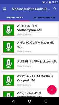 Massachusetts Radio Stations poster