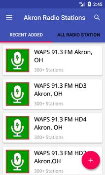 Akron Radio Stations poster