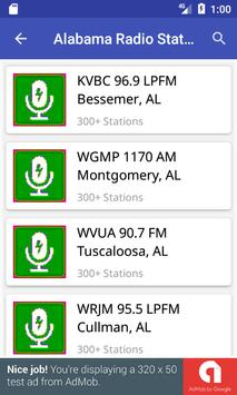Alabama Radio Stations poster