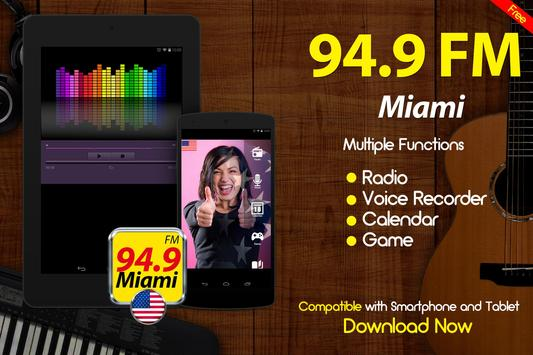 94.9 Radio Miami Radio de Estados Unidos FM USA apk screenshot