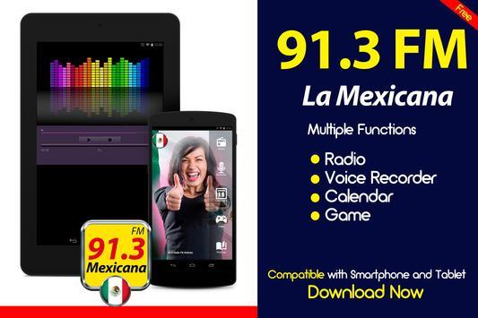 La Mexicana 91.3 Radio de Mexico Gratis Radio FM poster