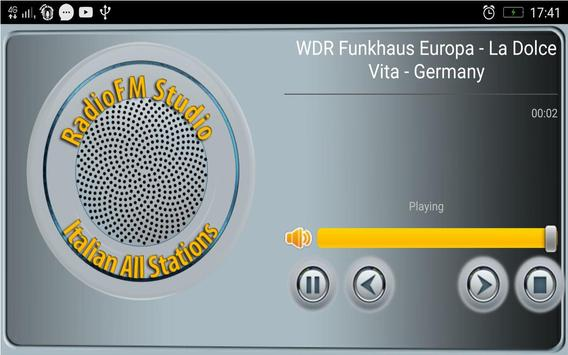 RadioFM Italian All Stations تصوير الشاشة 3
