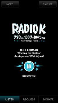 Radio K - KUOM poster