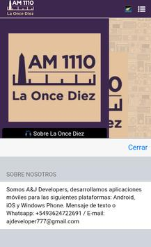 Radio La Once Diez apk screenshot