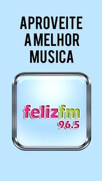 Feliz FM Rádio ao Vivo 96.5 FM Radio São Paulo poster