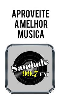 Rádio Saudade FM Santos 99.7 FM São Paulo poster