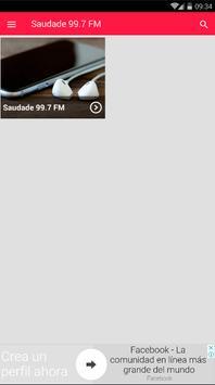 Rádio Saudade FM Santos 99.7 FM São Paulo screenshot 1
