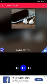 Rádio Saudade FM Santos 99.7 FM São Paulo screenshot 2