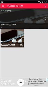 Rádio Saudade FM Santos 99.7 FM São Paulo screenshot 3