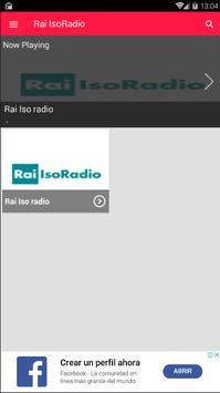 Rai Isoradio App Radio Italia screenshot 3