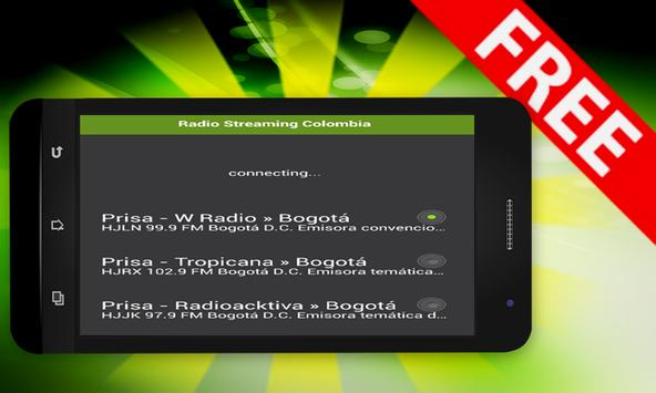 Radio Streaming Colombia apk screenshot
