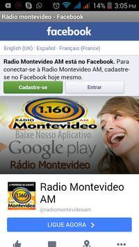 Rádio montevideo apk screenshot