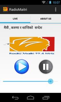 Radio Maitri 99.4 MHz poster