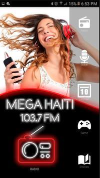 Radio Mega 103.7 fm Haiti Radios and Music poster