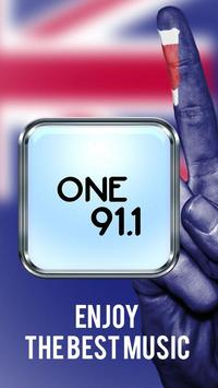 Radio One 91.1 poster