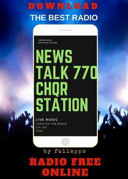 News Talk 770 - CHQR ONLINE FREE APP RADIO poster