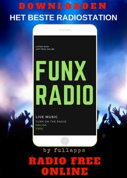 FunX - FunX NL Web App FM ONLINE GRATIS APP RADIO. poster