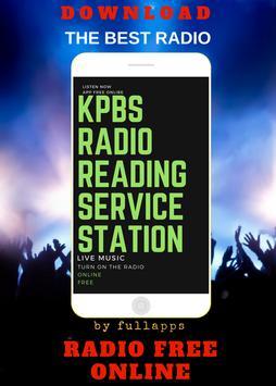 KPBS Radio Reading Service ONLINE FREE APP RADIO poster