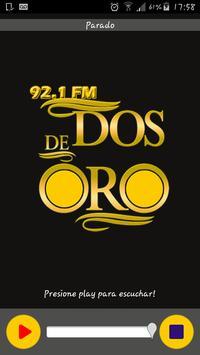Radio Dos de Oro 92.1 FM poster
