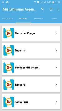 Mis Radios Argentinas Emisoras Argentinas en Vivo screenshot 1