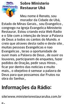 Rádio Ministerio Restaurar Ubá screenshot 11