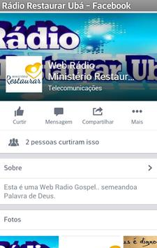 Rádio Ministerio Restaurar Ubá screenshot 4