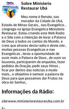 Rádio Ministerio Restaurar Ubá screenshot 5
