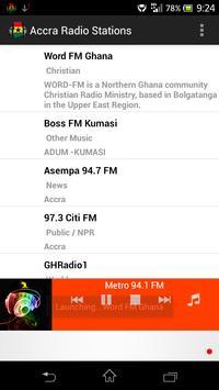 Accra Radio Stations poster