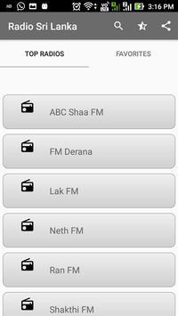 Sri Lanka Radio FM Online All Stations apk screenshot