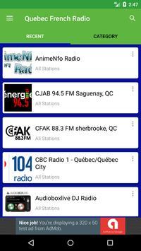 Quebec French Radio screenshot 1