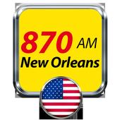 870 AM New Orleans Radio United States icon