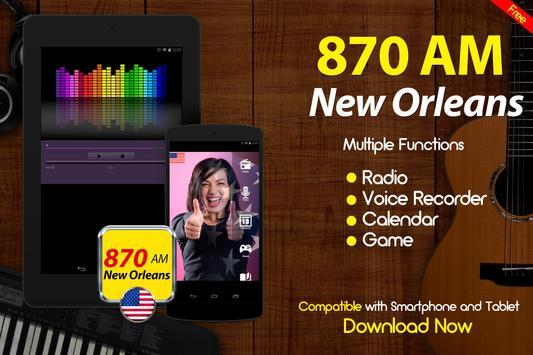 870 AM New Orleans Radio United States apk screenshot